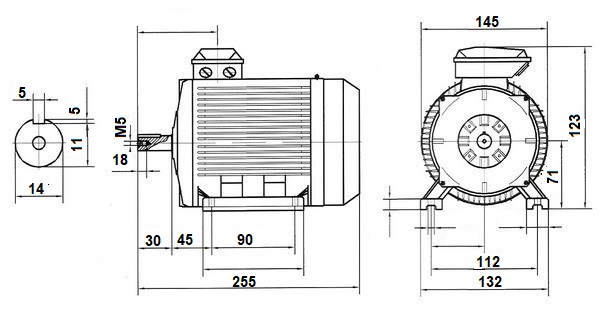 moteur  u00e9lectrique 220v monophas u00e9 2 condensateurs b3