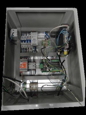 armoire électrique dérouleuse étiquettes