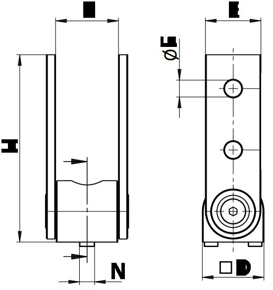 schema cotes articulation renforcée nue pour profilé aluminium