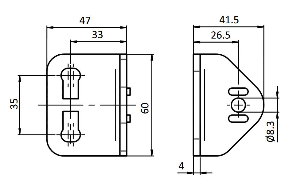 schéma de montage profilé aliminium rond d28