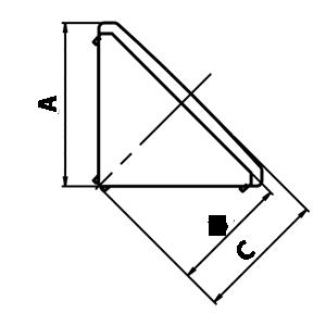 schéma explicatif avec côtes pour bouchon d'équerre TABCH_EQU_XX