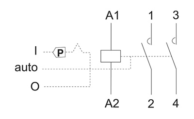 schema contacteur modulaire