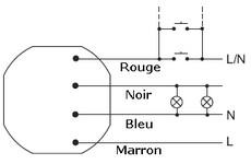 schema cablage télérupteur 0.4W