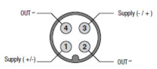 Photo des caractéristiques d'une cellule fourche F5 en sortie transitor