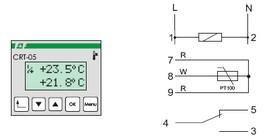 schema controleur de température 2 fonctions