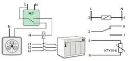 Schéma d'un relais de température programmable RT82x