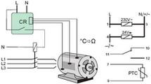 Schéma d'un relais de température programmable RT810