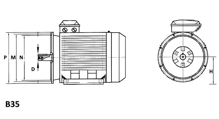 Bride moteur alternatif 3000 tr