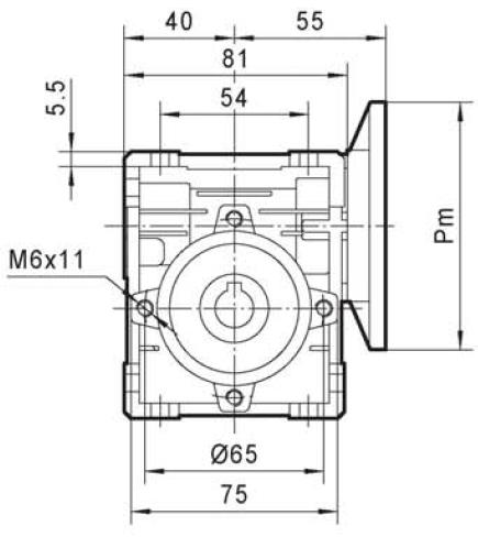 schema réducteur vis sans fin TNRV30