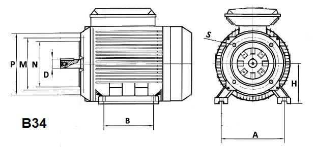 documentation technique pour moteur électrique dimensions