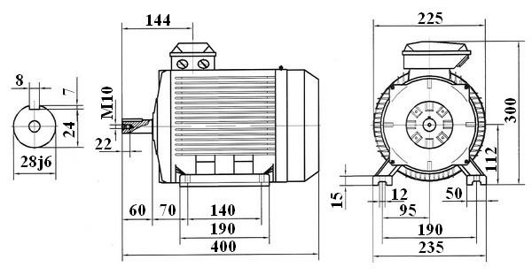 moteur  u00e9lectrique alternatif asynchrone 4 p u00f4les 1500tr