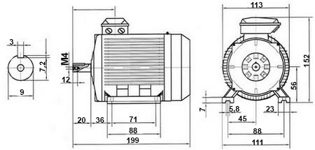 moteur triphas u00e9 220  280v 3000 tr  min  u00e0 pattes