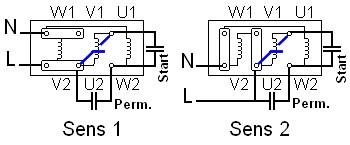 branchement condensateur